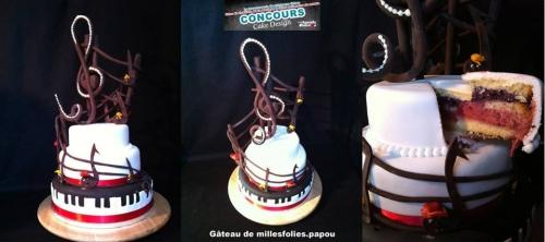 concours, wedding cake, musique, fête de la musique, clé de sol, note de musique, papou, pâtissier, alsace, livraison