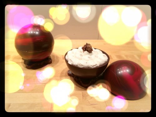 dessert saint valentin, 2015, papou, pâtissier alsace, coque en chocolat, pépite d'or, zellwiller, alsace