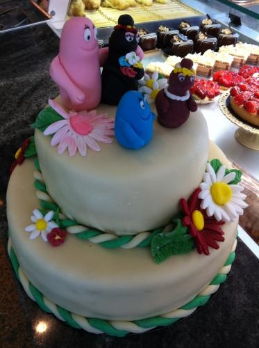 barbapapa, barbamama, barbibul, barbabelle, wedding, cake, génoise, vanille, papou, pâtissier, hoenheim, boulangerie, pain, dessert,  gâteau, anniversaire