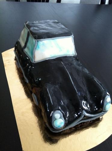 citroen, DS, président, vintage, année 50, noire, voiture, cake, sculpture,gâteau, papou, pâtisserie, sec, défit, culinaire