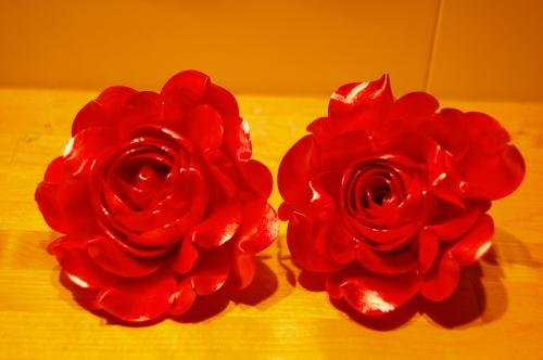 rose, fleur, sucre tiré, sucre d'art