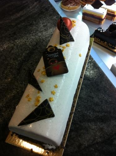 bûche, 2012,papou, patissier, strasbourg, bas rhin, épicéa, épice, pain d'épice, framboise, abricots rôties,