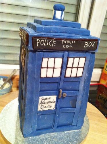 tardis, doctor who, papou, patisserie, wedding cake, strasbourg, alsace, cake design