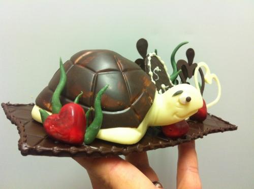 chocolat, tortue, coeur, amour, saint, valentin, papou, pâtisserie, chocolatier, 67, montage, original, coeur, longévité