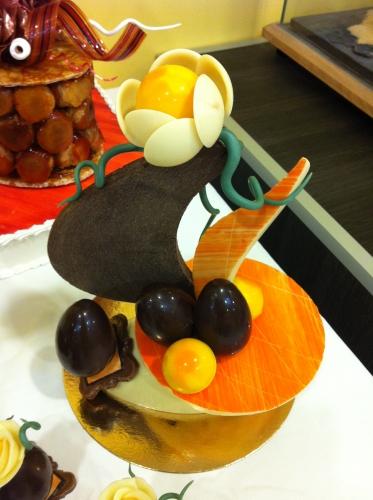 Pièce en chocolat, chocolat, Pâques, thème, œuf, pur beurre de cacao, commercial, papou, franck valentin, pâtissier, chocolatier, 67,68, alsace