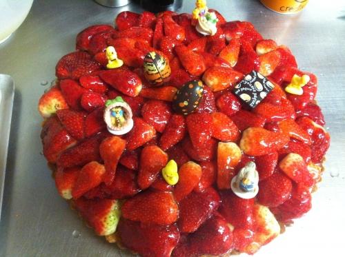 tarte, fraise, crème, amande, pâtissière, papou, hoenheim, pâtissier