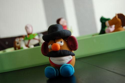toy story, cochon, bayonne, pâte à sucre, fimo, pâte à modeler