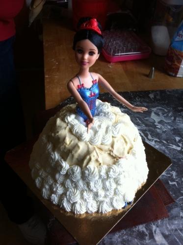 princesse, glace, vanille, framboise, chantilly, pâte amande, décor, barbie, papou, pâtissier, hoenheim