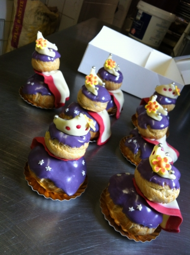 religieuse, myrtille, princesse, caramel, anniversaire, papou, 67800, hoenheim, pâtisserie